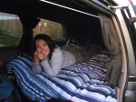 First night in the van, it was very exciting.