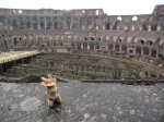 Walter chillin out at the Colosseum, cause that's what stuffed toy kangaroos do!